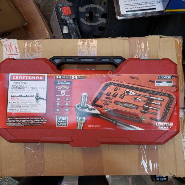 Jgo de dados y accesorios 58pzs craftsman 935430