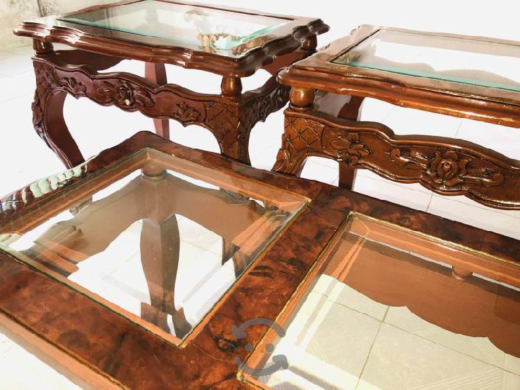Juego de mesas caoba Luis XV
