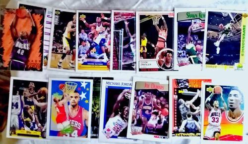 Lote De Tarjetas De Coleccion De Los 90s De Estrellas N B A