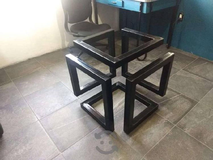 Mesa De Centro Estilo Industrial/ Minimalista
