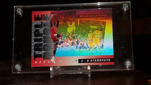Michael Jordan Triple Double Upper Deck Targeta Hologram