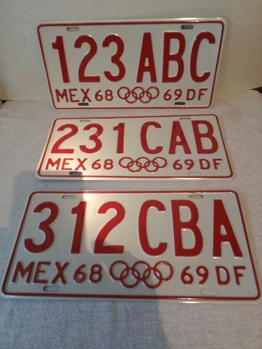 Olimpiadas Placas De El 68 Df Replica Excata De Colección