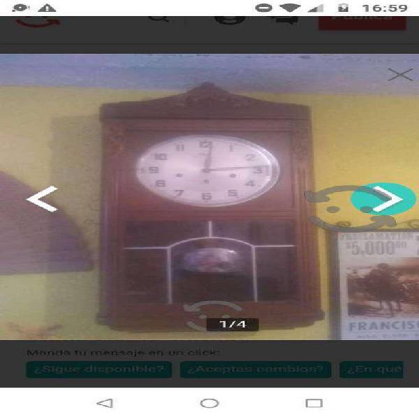 Reloj de pared 3 cuerdas marca urgos