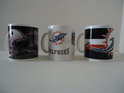 Tazas Nfl, Delfines De Miami, Varios Equipos Disponibles.