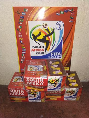 lbum Del Mundial Sudáfrica 2010 + 3 Cajas Con 100 Sobres
