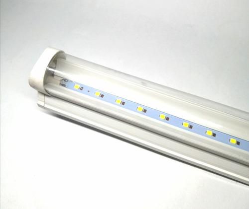 10 Regleta Tubo Led Con Base Integrada Blanca 18w