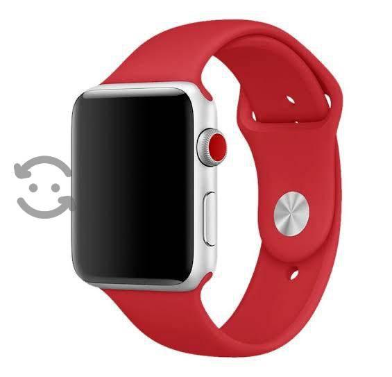 Correa para Apple Watch 38 mm color rojo