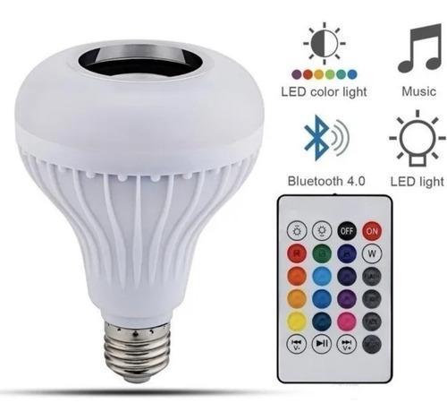 Foco Bocina Multicolor Rgb, Led 12w Control Remoto Bluetooth