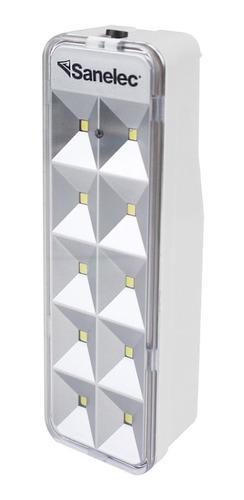 Lampara Emergencia Recargable 10 Led Mini 2128 Sanelec