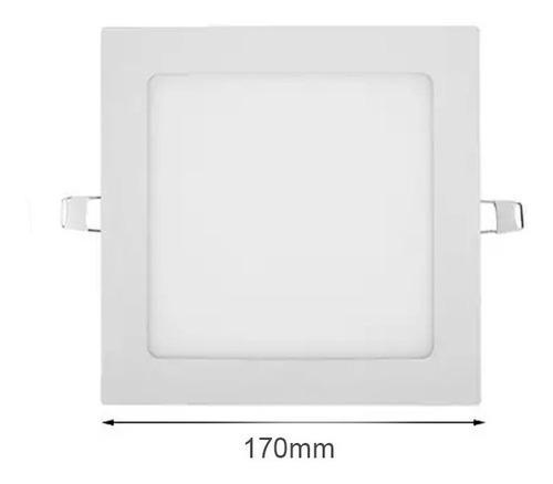 Lampara Led Blanco Empotrar 12w Cuadrada Foco Luz Reflector