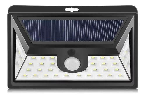 Lampara Solar 800 Lumen 44 Led Sensor Mov Hasta 8 Horas
