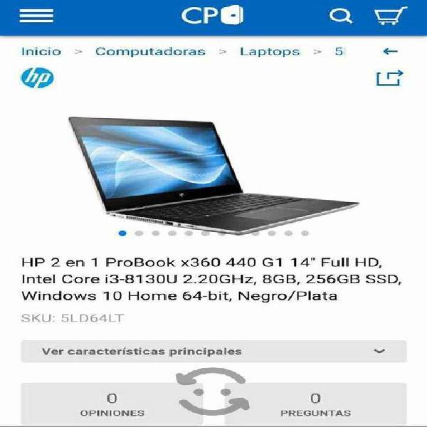 Laptop HP Probook X360 Nueva en caja, c/garantía