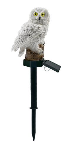 Lámpara De Césped Led De Energía Solar Diseño Búho 2v