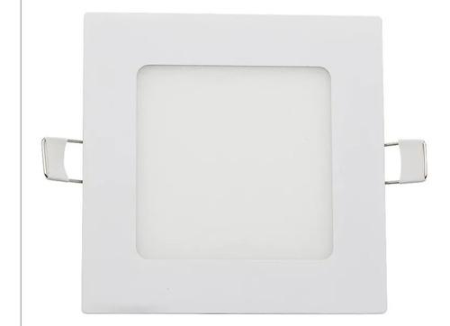 Lámpara De Empotrar Led 9w, Cuadrada Alto Brillo, Plafon