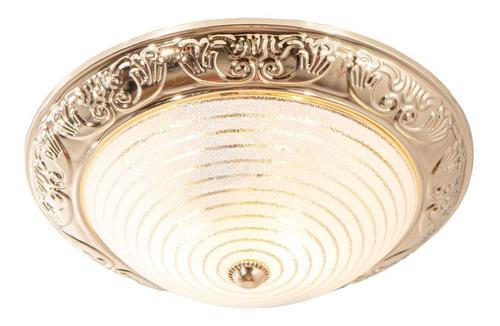 Lámpara De Techo Dorado 60w E27 1 Luz
