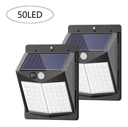 Lámpara Led Solar Y Regargable Para Pared De Exterior