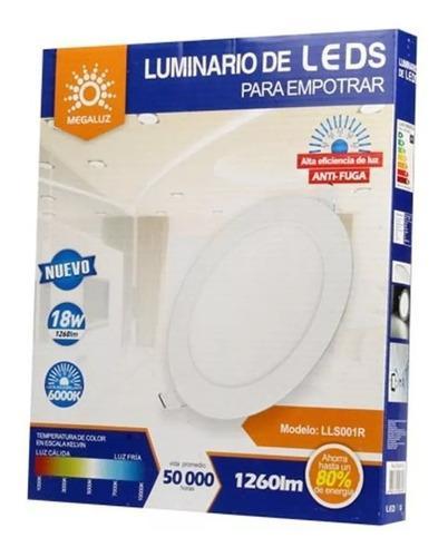 Plafon Empotrado Led 18w Spot Ultradelgado Luz Blanca