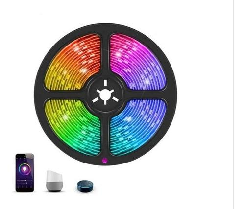 Tira Led Rgb Colores 5050 Controlador Wifi Completa
