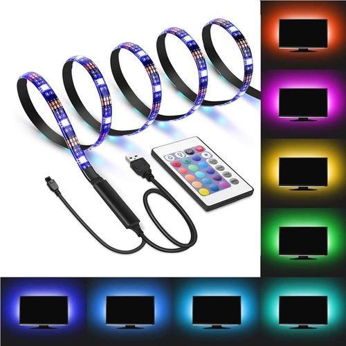 Tiras De Luces Led Color Rgb De 1 M Con Control Remoto