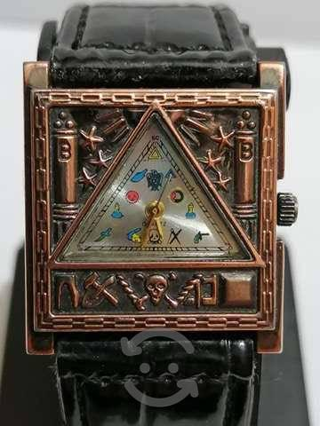 Antiguedades reloj masonico vintage rarisimo¡