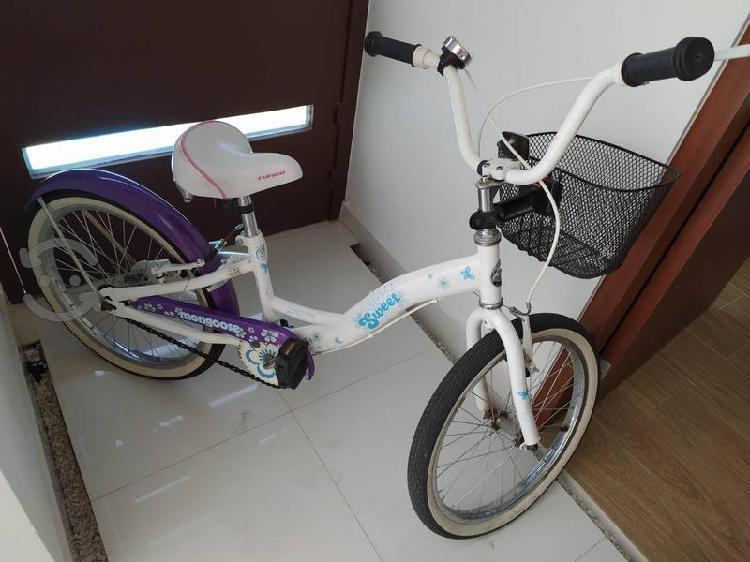 Bicicleta Mongoose rodado 20 como nueva. Remato.