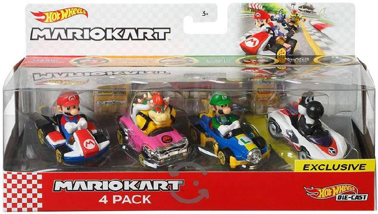 Hot Wheels De Mario Kart: Mario, Luigi, Bowser