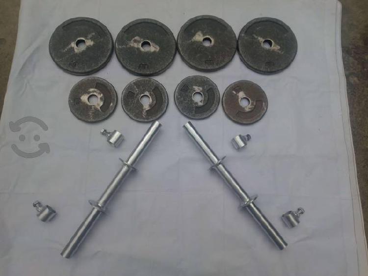 Mancuernas nuevas de 8 kg de acero