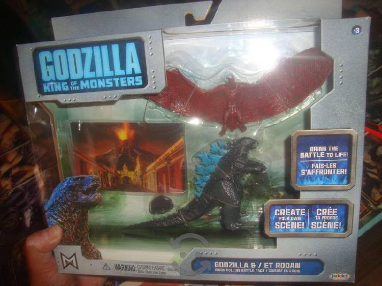 PACK JUguetes Godzilla vs Rodan