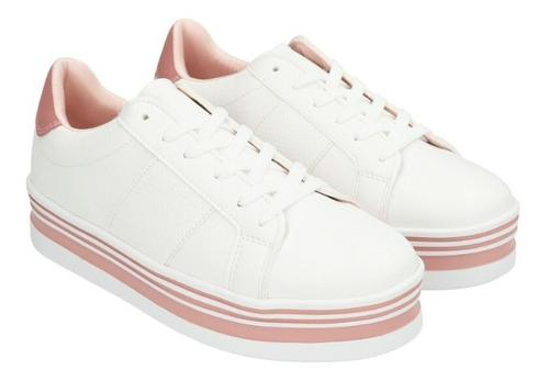 Sneakers Casuales De Mujer C&a Con Plataforma