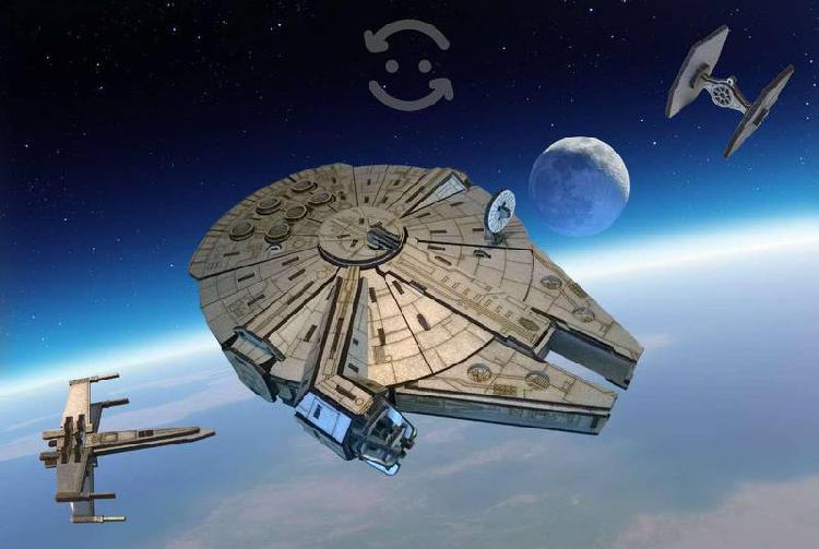 Star Wars Halcón Milenario Mdf Armable con extras