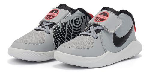 Tenis De Bebé Nike Team Hustle D 9 Td Grey Originales 100%