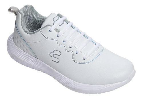 Tenis Para Mujer Charly Casual / Deportivo Tipo Piel Blnaco
