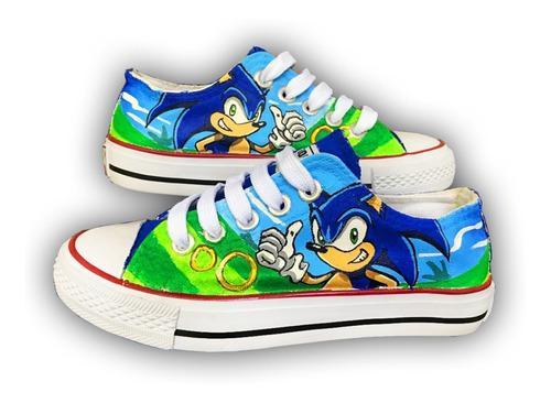 Tenis Pintado A Mano Sonic The Hedgehog Personalizados 04