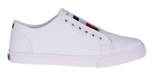 Tenis Tommy Hilfiger Blanco Thw0540-137 Mujer