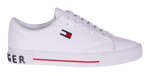 Tenis Tommy Hilfiger Blanco Thw0544-120 Mujer