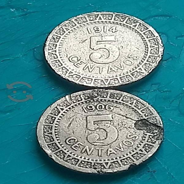 monedas mexicanas de principios de siglo 5 cent