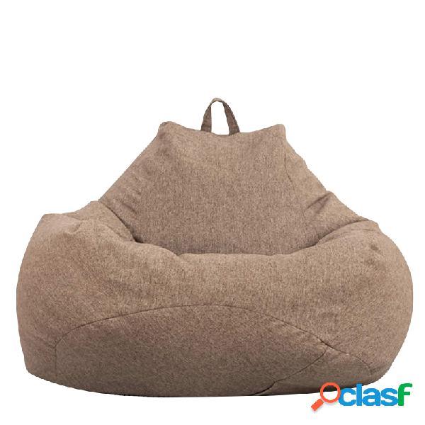 80x90cm Lino Bean Bolsa Sillas Cubierta Sofás Tumbona Sofá