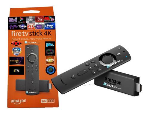 Amazon Fire Tv Stick 4k Alexa Firetv +1 Mes Gratis Ultim Gen
