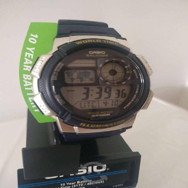 Casio World Time WR 100 mts Nuevo