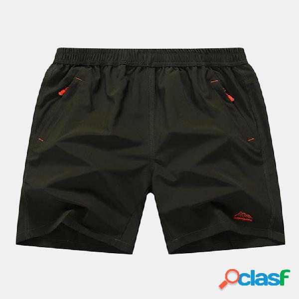 Hombres Plus Tamaño Color sólido Playa Pantalones cortos