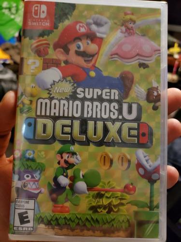 Juego Nuevo De Nintendo Switch Súper Mario Bros U Delux