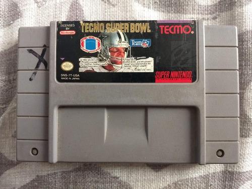 Juegos Super Nintendo 3x2 Tecmo Super Bowl
