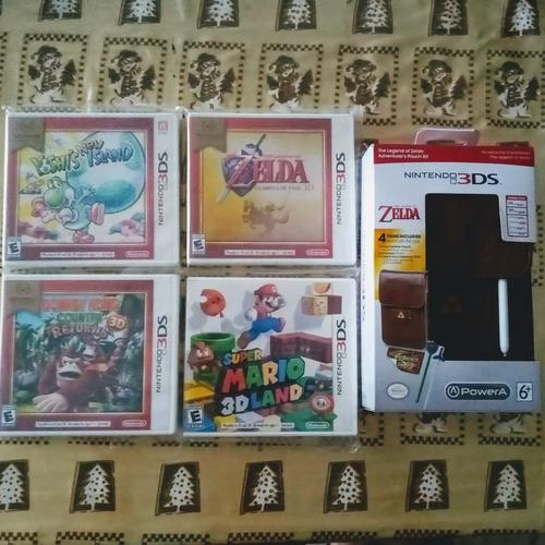 Lote De 4 Juegos Para Nintendo 3ds Más Estuche De Zelda.