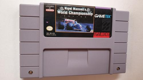 Nigel Mansell's World Championship Racing Snes Juegazo!!!
