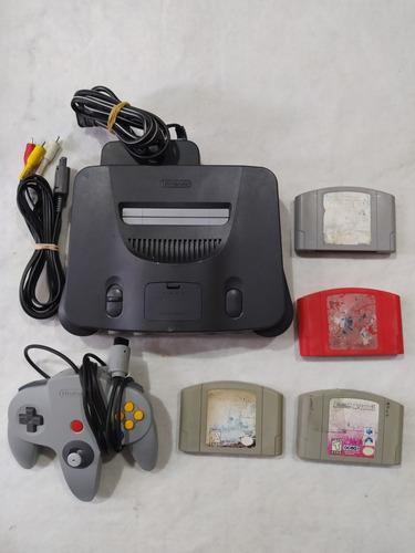 Nintendo 64 Con 4 Juegos