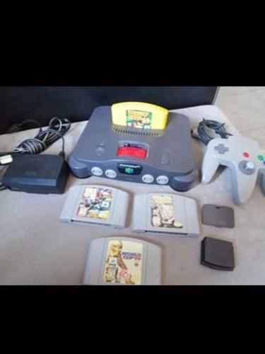 Nintendo 64 Con 4 Juegos, Memoria Y 1 Control