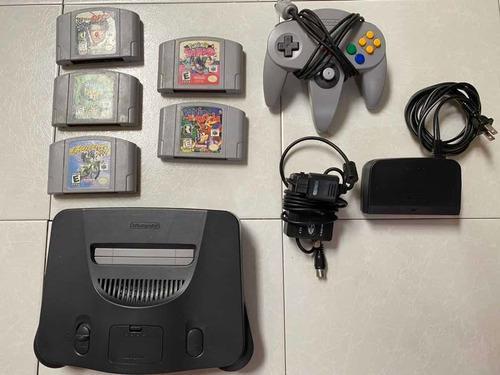 Nintendo 64 Negro Con 5 Juegos Y 1 Control