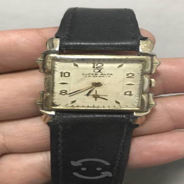 Precioso Reloj SÚPER ALFA De cuerda años 30s Art
