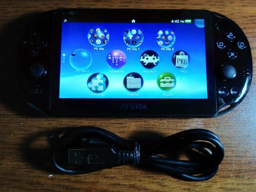 Ps Vita Slim Enso+128gb+30 Games+30 Psp+30 Psx+8600 Clasicos