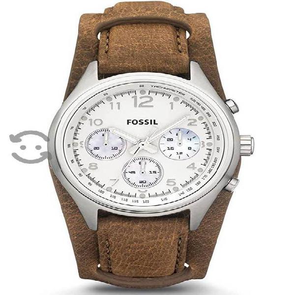 Reloj Fossil marrón, unisex, original